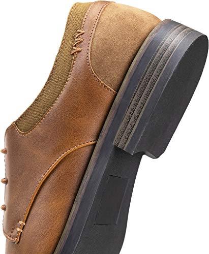 JOUSEN Mens Dress Shoes Retro Plain Toe Business Casual Oxfords Dress Shoes for Men