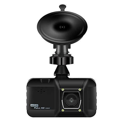 Dash Cam,Dotca DS02 Car Video Camera 3″ LCD Screen With 170 Degrees Rotatable Dashboard Recorder Support Night Vision/Video Loop Recording/SD Card Storage