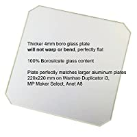 RepRap Champion Borosilicate Glass (Boroglass) for Wanhao Duplicator i3 Anet A8 MP Maker Select 3D Printers, 4mm Thick from RepRap Champion