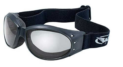 Global Vision Eyewear Eliminator Goggles with Micro-Fiber Pouch, Clear Mirror ()
