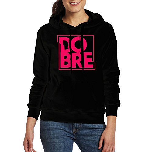 Dobre Brothers Logo Women Casual Style Sweatshirt Young Sports Sweatshirt Black (Brother Hoodie)