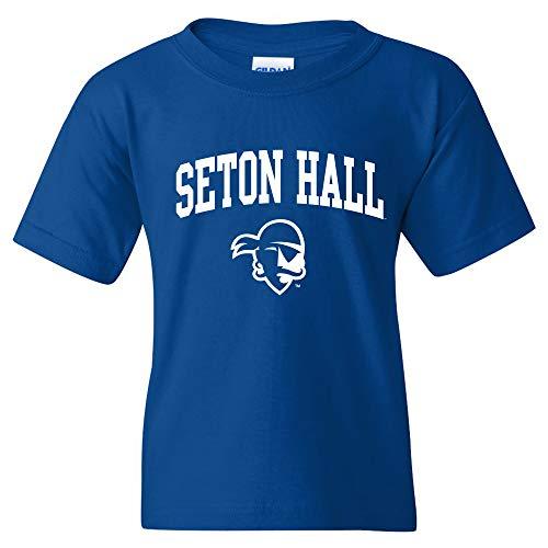 YS03 - Seton Hall Pirates Arch Logo Youth T-Shirt - Small - -