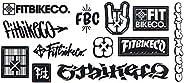 Fit Bike Co BMX Sticker Sheet - 12 Stickers - Size 23cm Cycle New & Offi