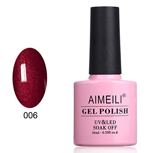 AIMEILI Soak Off UV LED Gel Nail Polish - Cherry Blossom (006) 10ml -