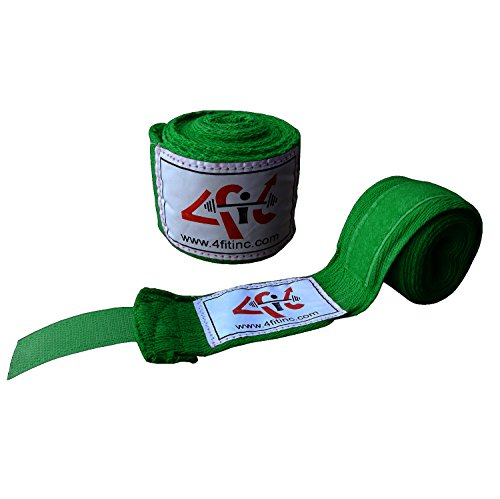 4Fit Boxing Hand Wraps Boxing Bandages Wrist Protecting Fist Punching 10-Colours 2.5M