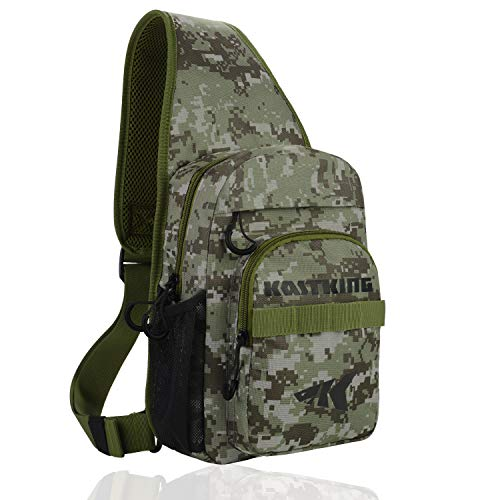 (KastKing Sling Fishing Bag,Standard(11.5 x 9.25 x 5 Inches)-Digital Camo, Without Trays)