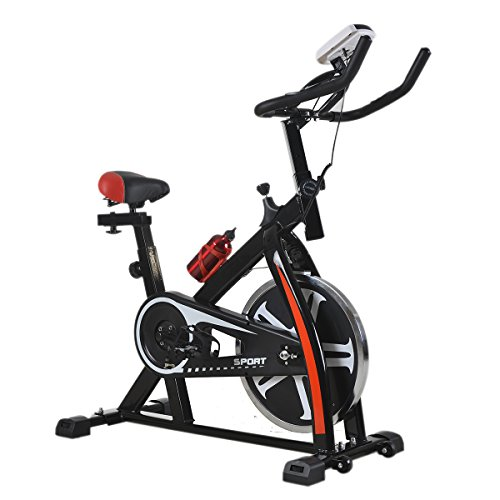 Gym Bike - Cycling Bike Exercise Bike Indoor cycling Spin bike Bicycle Cardio Fitness Cycle Trainer Heart Pulse w/LED Display Exercise Bikes Stationary Indoor