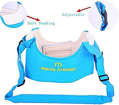 Blue Zhongsheng/® Babywalker Baby Toddler Walking Assistant Protective Belt Carry Trooper Walking Harness Learning Assistant Learning Walk Safety Reins Harness Walker Wings