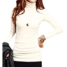 CFD Womens Basic Slim Fit Long Sleeve Turtleneck T-shirt