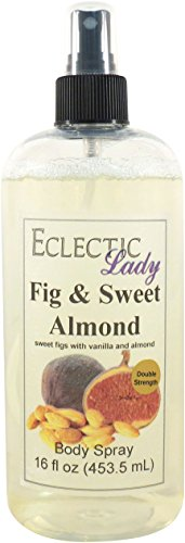 Fig And Sweet Almond Body Spray Double Strength , 16 ounces