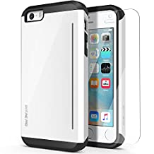 iPhone 5S Case, OBLIQ [Skyline Pro][White] with HD Screen Protector - Kickstand Fit Bumper Scratch Resist Metallic Finish Dual Layered Heavy Duty Hard Protection High Quality Clear Case for Apple iPhone 5 / 5S