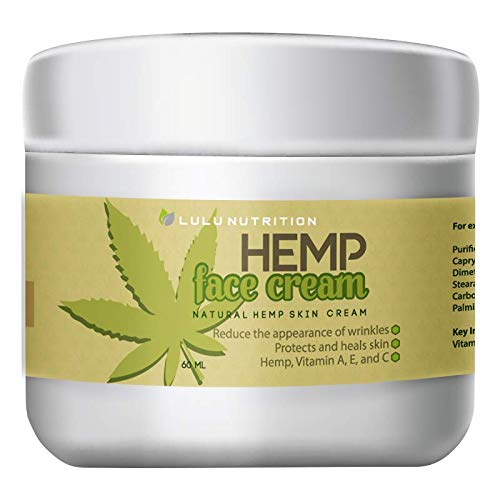Hemp Face Cream - Hemp Anti Aging - Lift Eyelids - Soften Under Eye Bags - Help Reduce the Appearance of Fine Lines and Wrinkles - Relax the skin while improving elasticity with the power of Hemp