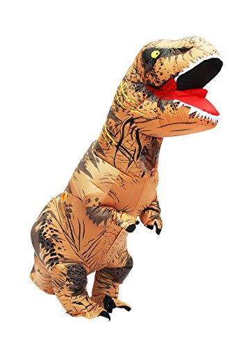 Generic Halloween Adult Inflatable T Rex Dinosaur Party Costume Funny Dress Brown (Funny Cute Women Halloween Costumes)