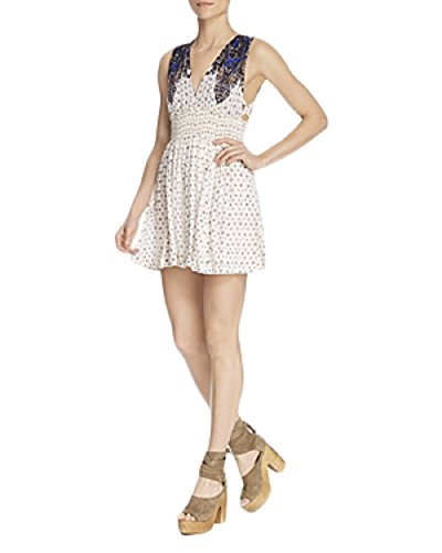 Free People Baby Doll (Free People Walking Through Dreams Fit & Flare Dress, Ivory, X-Small)