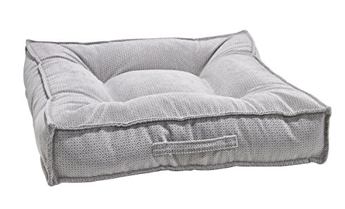 Bowsers Piazza Dog Bed, Large, Silver Treats (Bed Dog Tufted)