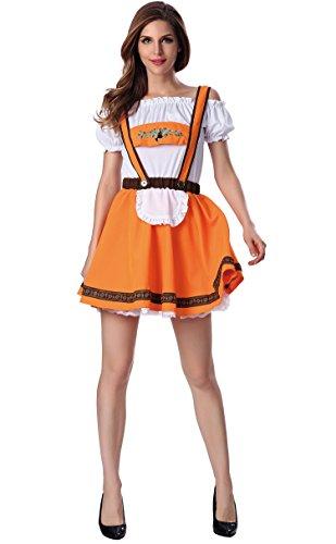 German Beer Bavarian Oktoberfest Couple Lederhosen Costume (XL, Woman) (Ladies Lederhosen Fancy Dress)