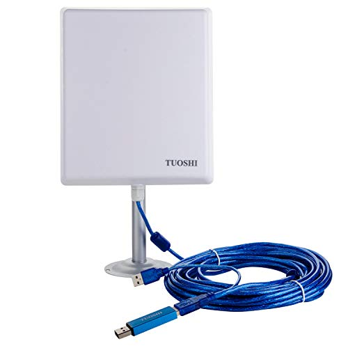 TUOSHI 2.4Ghz Outdoor Long Range WiFi Antenna | 36dBi High Gain USB WiFi Extender Antenna for RV & Marine & PCs