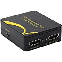1 to 2 Port HDMI Splitter Support 4K x 2K / 1080P / 3D 1.4 Version ( One in Two out)