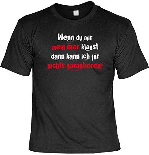 T-Shirt Funshirt - Wenn du mir mein Bier klaust - witziges Spruchshirt als Geschenk für den Bierliebhaber und Mann