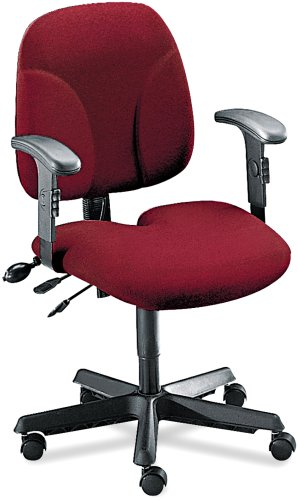 Tiffany Industries 40212112 Comfort Series Multi-Function Swivel Task Chair, Burgundy Fabric (Burgundy Chair Multi Task)