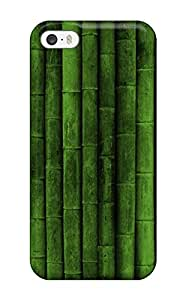 Robearke Case Cover Protector Specially Made For Iphone 5/5s Green Bamboo