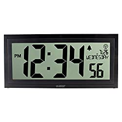 La Crosse Technology BBB87276 Digital Clock, Black