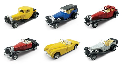 32 Scale Diecast Model (|Set of 6| Assorted Pullback Diecast Metal Antique Classic Model Cars (1:32 Scale))