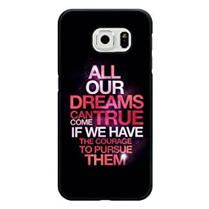 Samsung Galaxy S6 Edge Case, Customized Disney Walt Disney Quotes Black Hard Shell Samsung Galaxy S6 Edge Case, Walt Disney Quotes Galaxy S6 Edge Case(Only Fit for Galaxy S6 Edge)