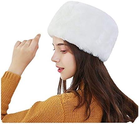 RISTHY Sombrero de Mujer de Piel Sintética para el Invierno con ...