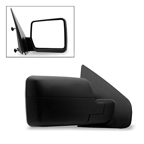 F150 Pickup Truck Mirror (04-06 Ford F150 F-150 Pickup Truck Extendable Towing Manual Mirrors Passenger Right Side Replacement)