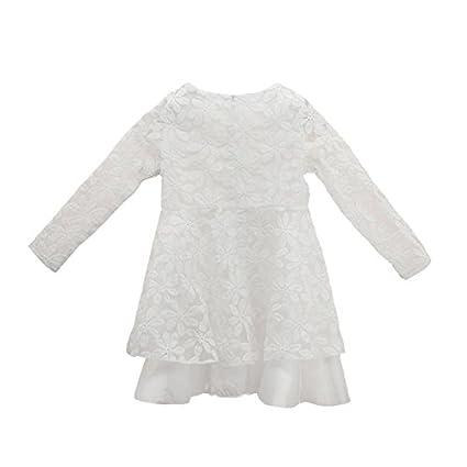 33a4423428789 Chinatera Enfant Fille Baby Girl Robe Blanche en Dentelle Tutu Robe Robe de  Soirée (4T(4-5 ans)): Amazon.fr: Vêtements et accessoires