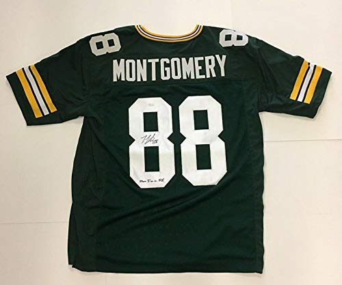 (Ty Montgomery Signed Packers Jersey Sewn On Letters Numbers Ins Now I'm A Rb - JSA Certified - Autographed NFL Jerseys)