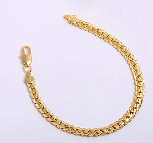Gold Plated Stainless Steel Chain Anklets Summer Beach Jewelry