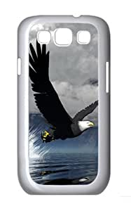 3D Eagle Custom Hard Back Case Samsung Galaxy S3 SIII I9300 Case Cover - Polycarbonate - White