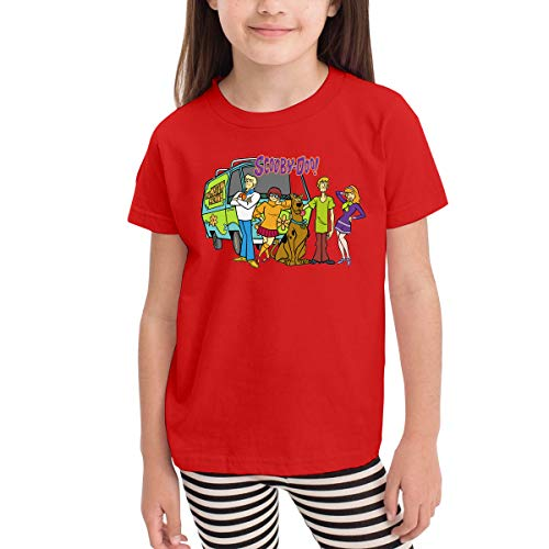 Scooby Doo Family Toddler Kids Unisex Short Sleeve Fancy Crew Neck T-Shirt Top Tee Size 2-6 Red]()