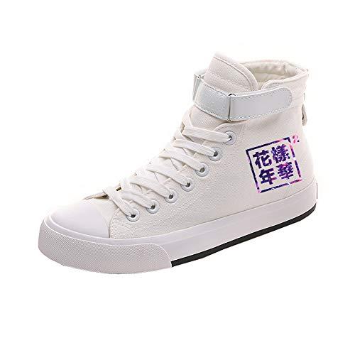 White11 De Pareja Popular Con Zapatos Lona Casuales Ayuda Personalidad Bts Cordones Alta Cómodo 6I7qAZA