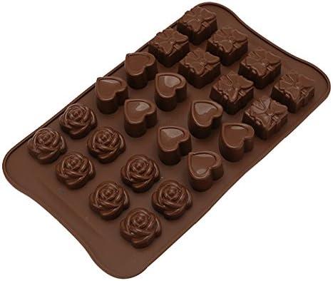 Ruikey モールド シリコーン製  ローズラブギフトボックスモールド お菓子、ケーキ、チョコレート 鋳型 レジン、粘土、 キ