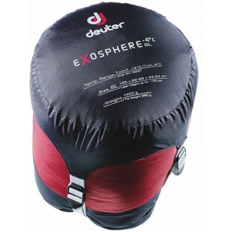 Deuter Exosphere-4° Saco de Dormir, Unisex Adulto, Rojo (Fire/Cranberry), Talla Única: Amazon.es: Deportes y aire libre