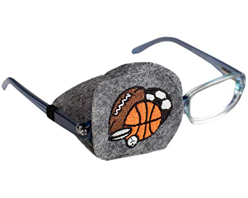 Eye Patch - Right Coverage Child Sports Balls Eye Glass Eye Patch by Patch Pals from Patch Pals