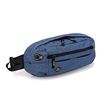 ANDA UUAD Fanny Bag Black Impermeable Cartera Cinturón Hombre Cartera Teenager Viaje Cinturón Hombre Cintura Bolsa
