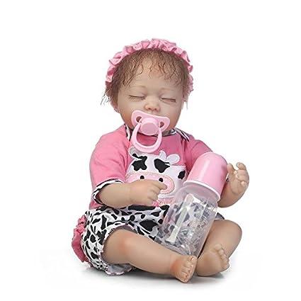 Nicery Reborn Baby Doll Soft Simulation Silicone Vinyl 18inch 45cm Lifelike Vivid Boy Girl Toy Cow