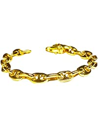 """14K Solid Yellow Gold Heavy Anchor Mariner Chain/Bracelet 8 Mm 32 Grams 8""""(11312"""