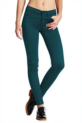 - Womens Super Stretch Comfy Skinny Pants P44876SKX Teal 3X