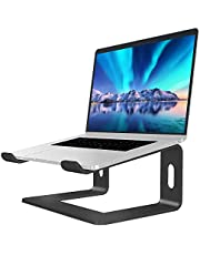 SOUNDANCE Laptop Stand, Aluminum Computer Riser, Ergonomic Laptops Elevator for Desk, Metal Holder Compatible with 10 to 15.6 Inches Notebook Computer, Black