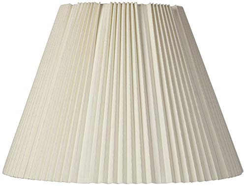 (Eggshell Pleated Lamp Shade 9x17x12.25 (Spider) - Brentwood)