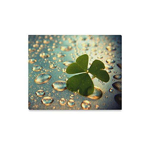 St. Patrick's Day Lrish Shamrock Clover Trefoil Oil Painting Canvas