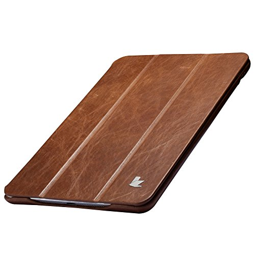 Jisoncase iPad Mini 4 Case, Leather Ultra Slim Smart-shell Stand Cover Case With Auto Wake/Sleep for Apple iPad Mini 4 (JS-IM4-01A) (Vintage Brown) by Jisoncase (Image #4)