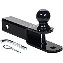 """HiTow 3-in-1 ATV Towing Hitch Ball Mount adapter with 2"""" Ball , Hollow Shank"""