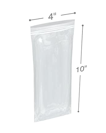 """300 4x10 Reclosable Resealable Clear Zipper Poly Plastic Bags 2Mil 4/"""" x10/"""" in"""