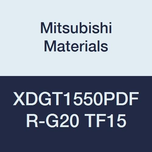 Uncoated Mitsubishi Materials XDGT1550PDFR-G20 TF15 XDGT Series Carbide Milling Insert Special Design Class G 0.079 Corner Radius 0.197 Thick Grade TF15 Pack of 10 Sharp Honing